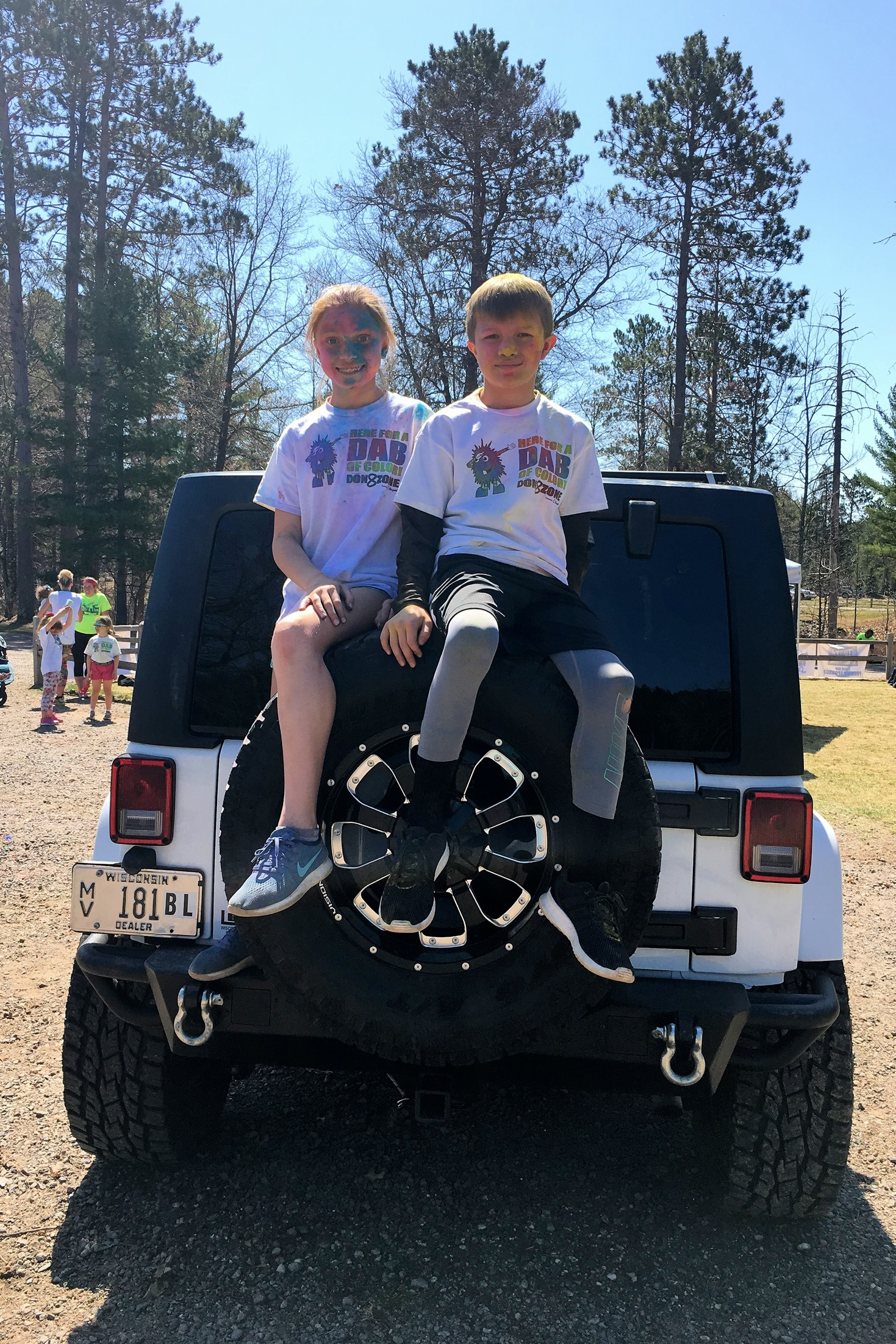 Landry and Barron had a great time at the Color Run in Minocqua. Kim Johnson photo