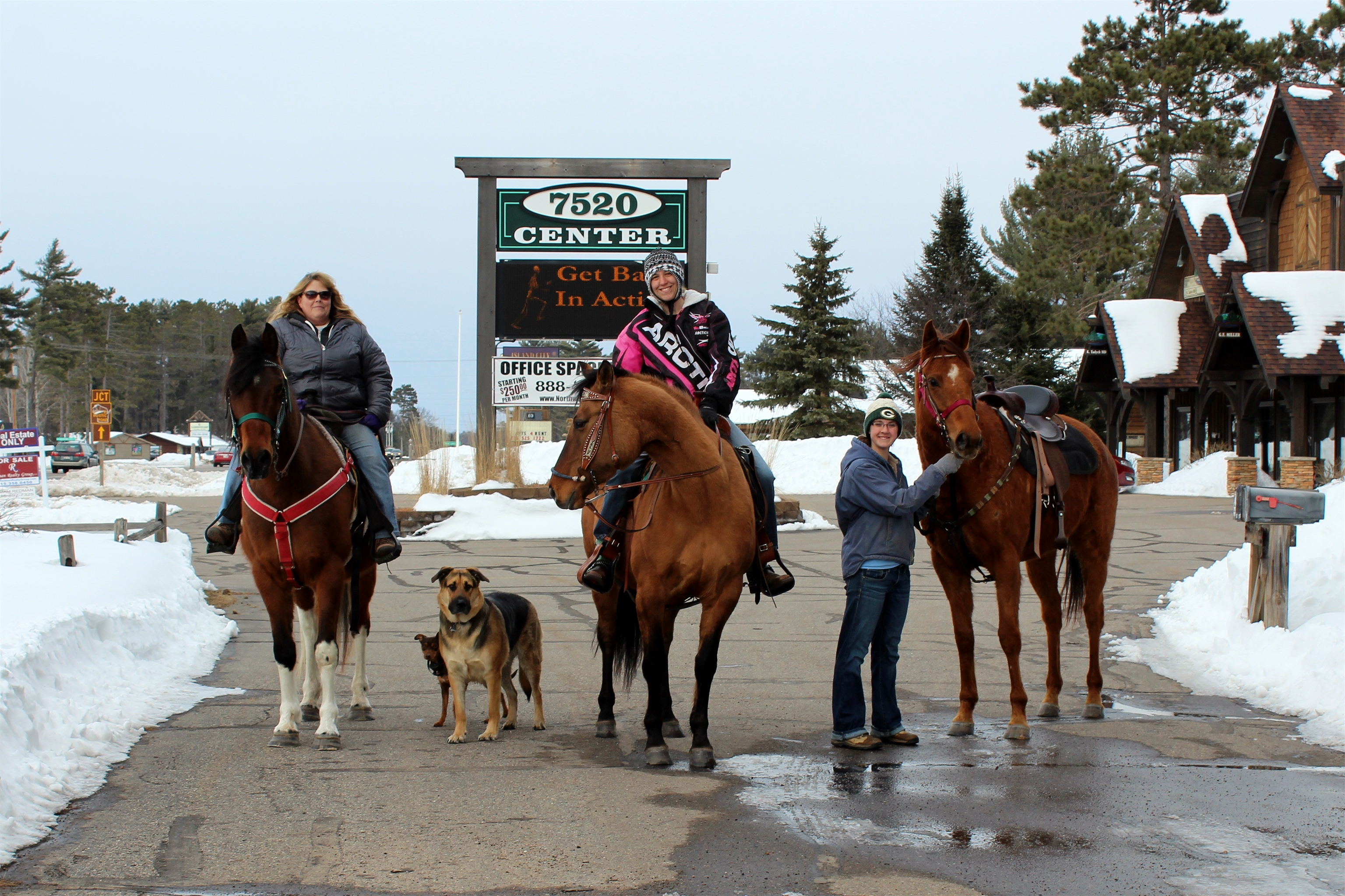 Riding horses in Minocqua. Kim Johnson photo