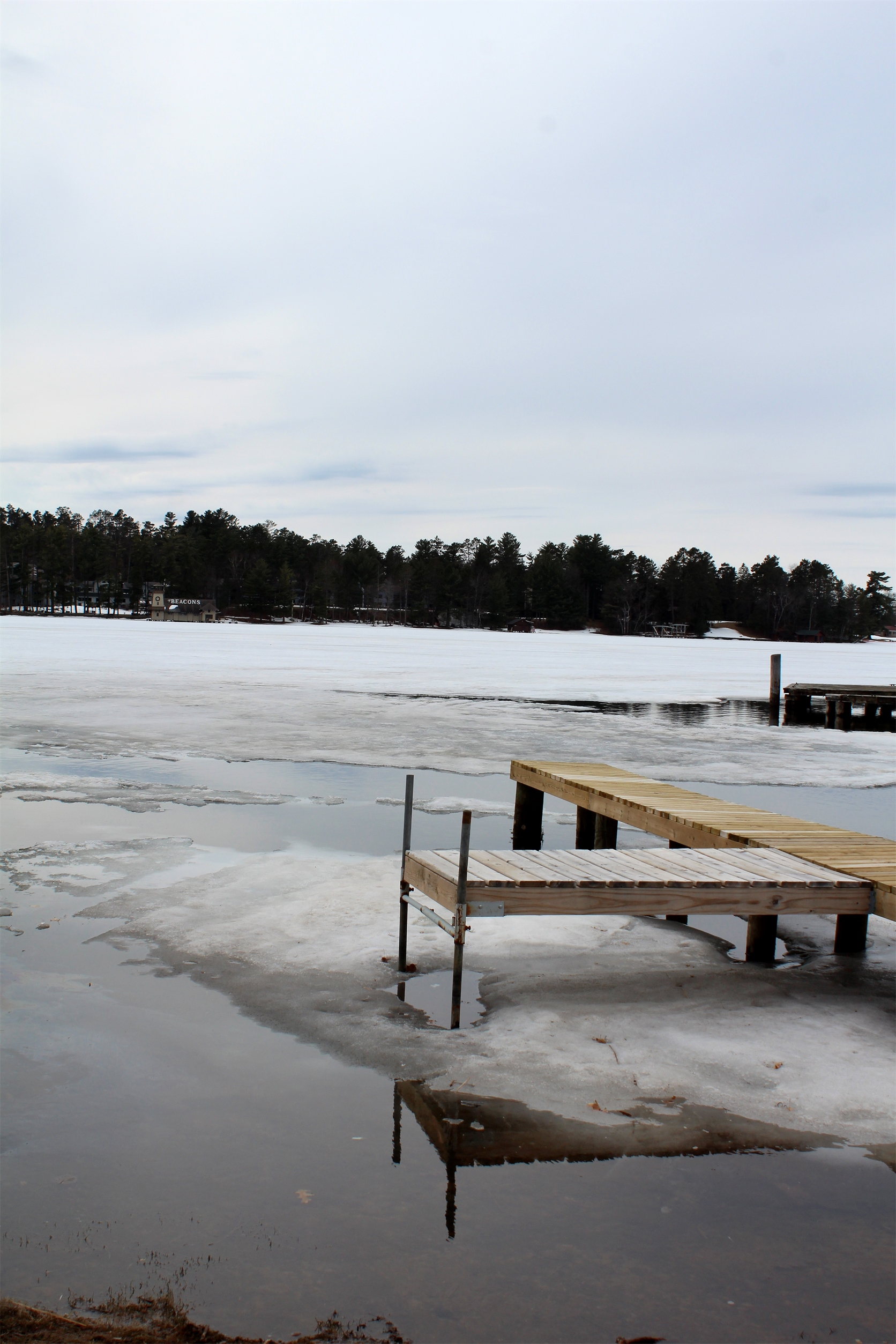 Open water along the shoreline was a welcome sight in the Minocqua area. Kim Johnson photo