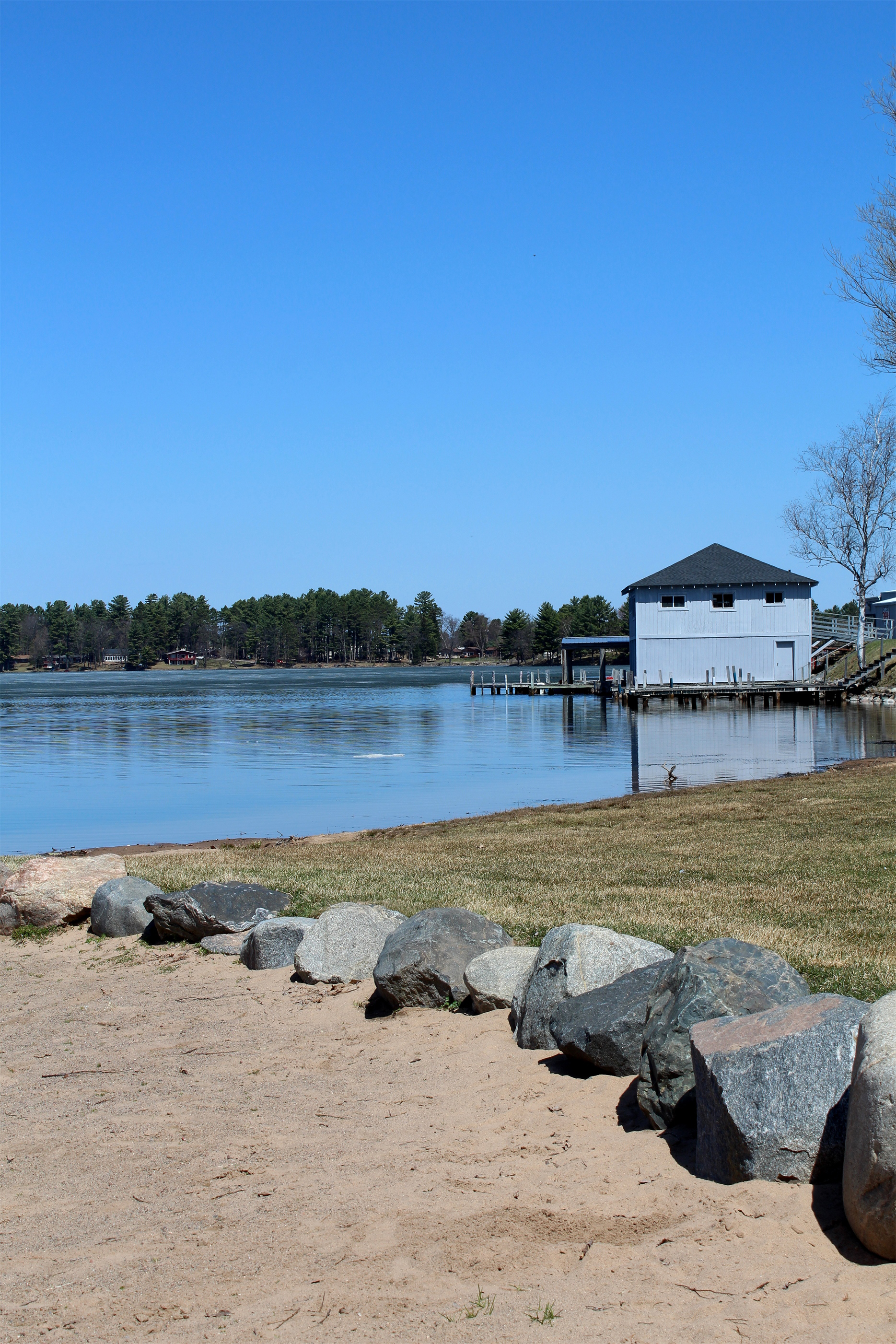 Open water is a welcome sight at Torpy Park in Minocqua. Kim Johnson photo