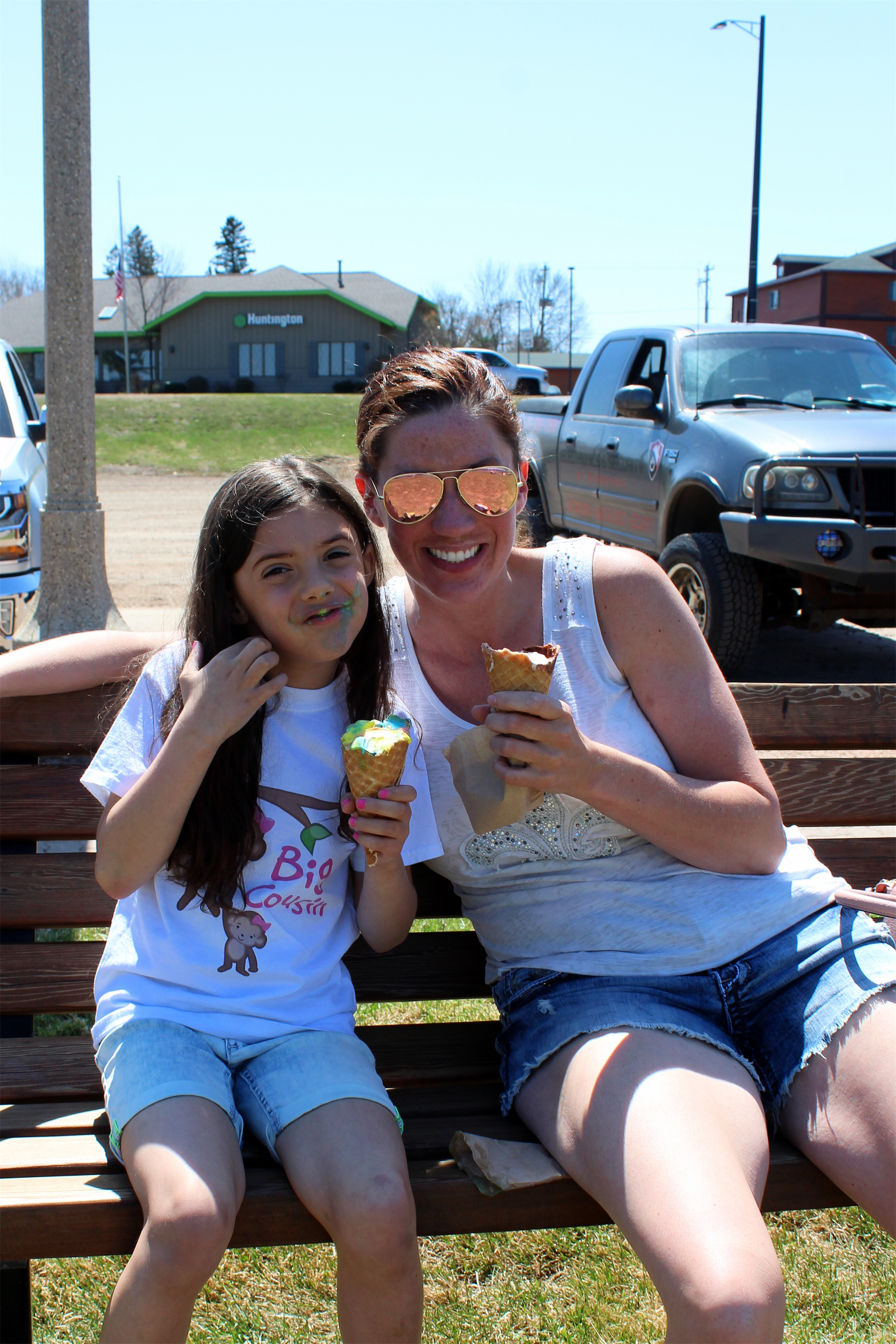 Carrie and Ava enjoy the sunny afternoon in Minocqua. Kim Johnson photo