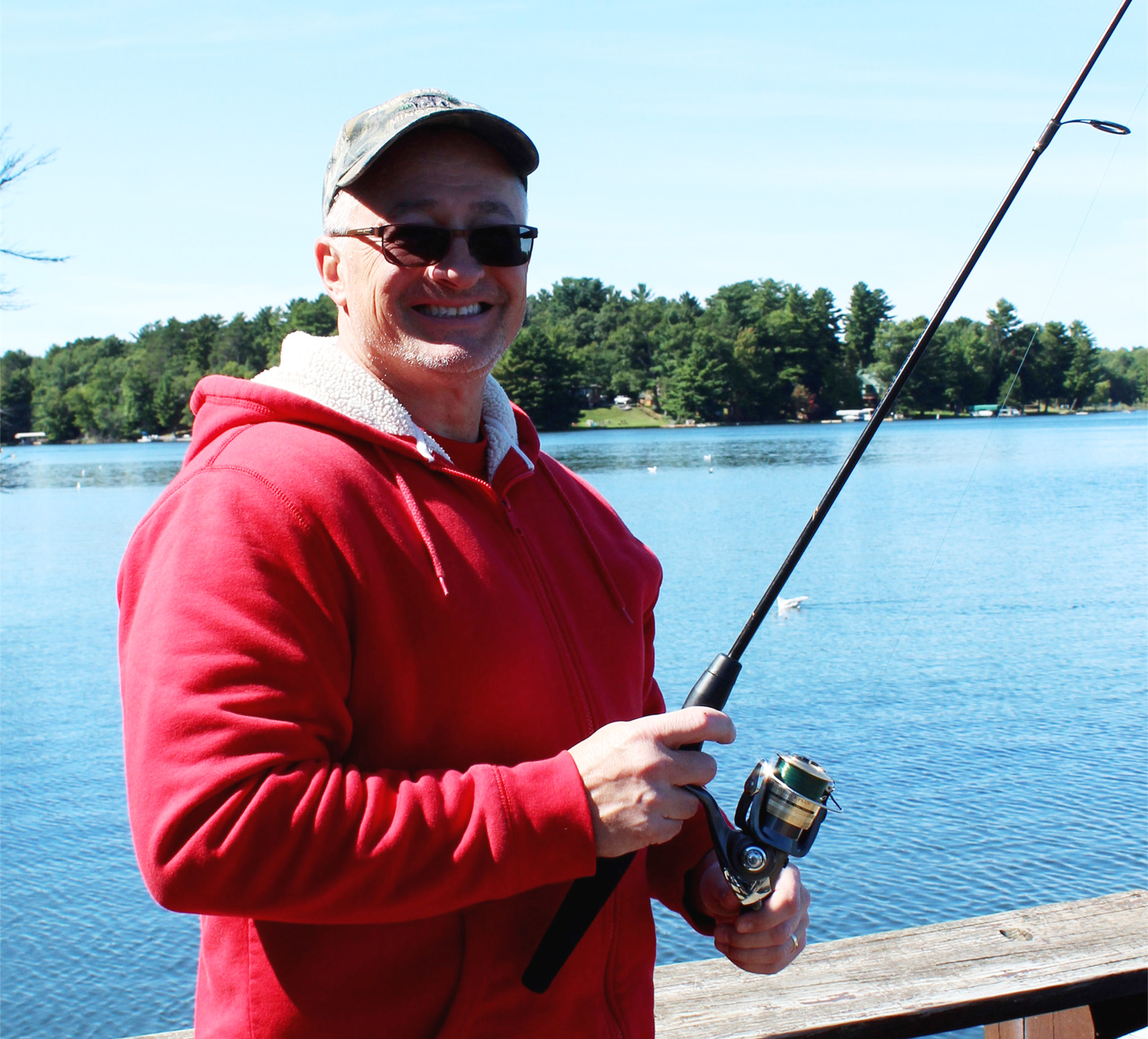 Chris spends the afternoon fishing in Minocqua. Kim Johnson photo
