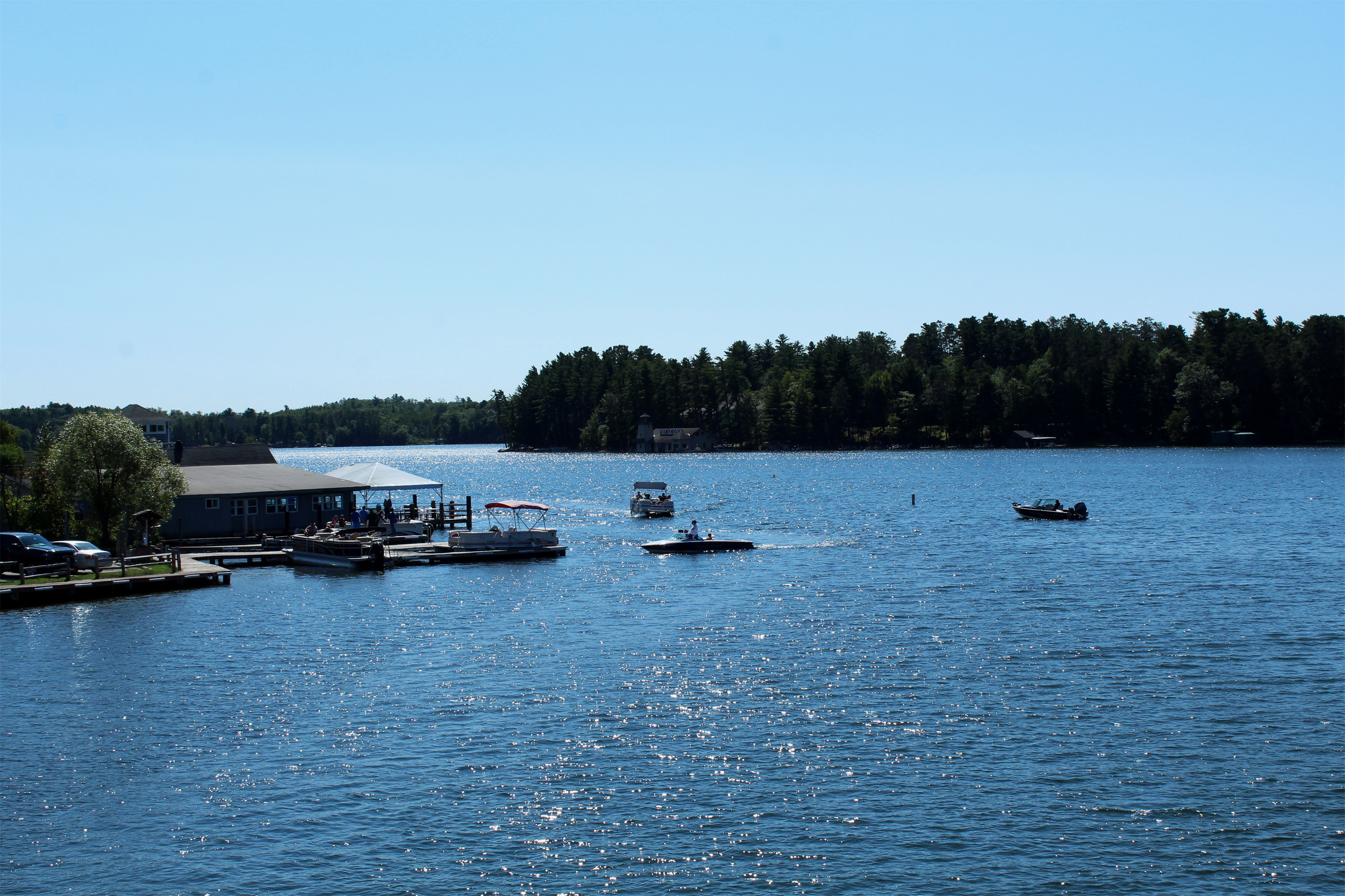 Lake Minocqua is busy with boaters on this sunny afternoon. Kim Johnson photo
