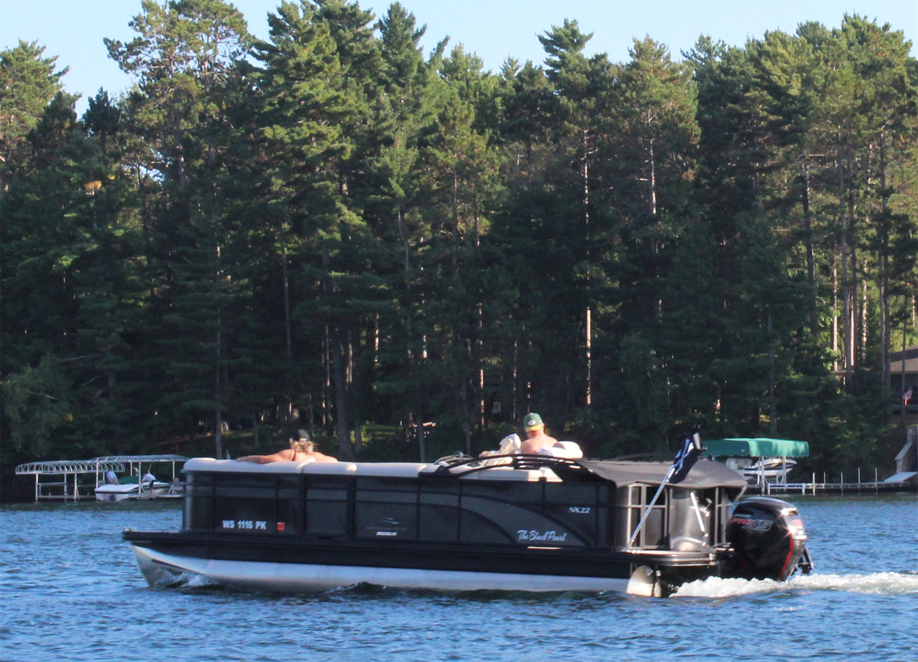Boating on Lake Minocqua. Kim Johnson photo