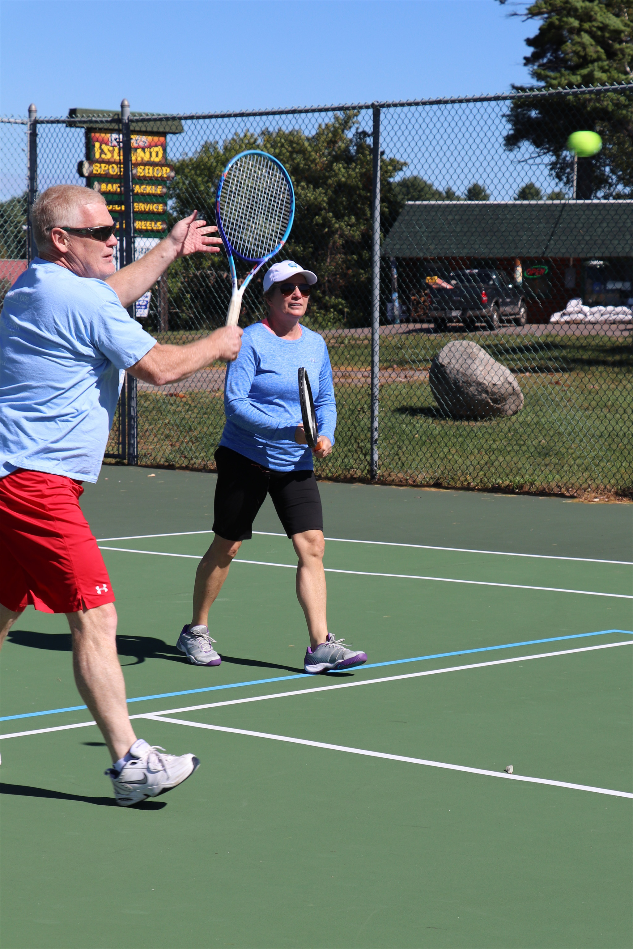 It's a great day to play tennis in Minocqua. Kim Johnson photo