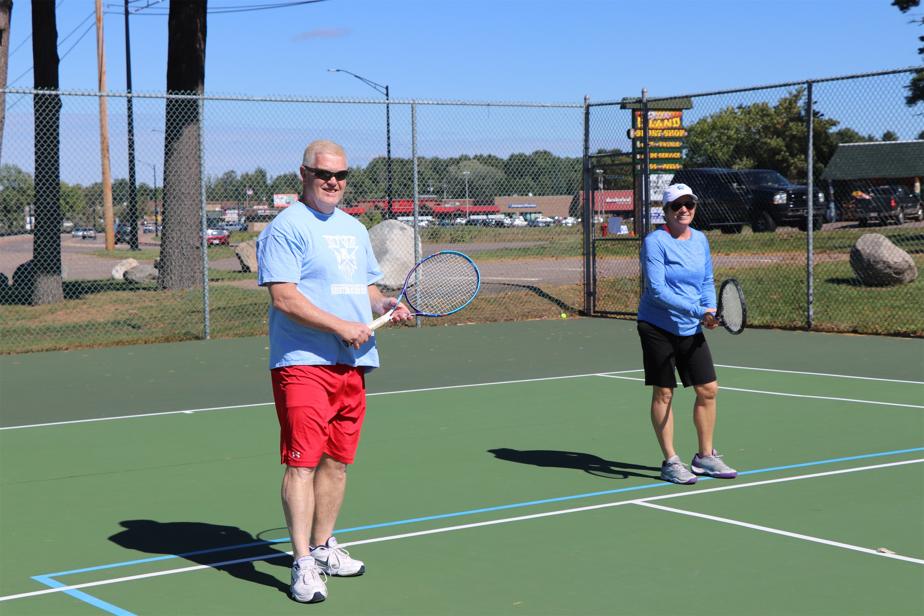 Playing tennis at Torpy Park in Minocqua. Kim Johnson photo