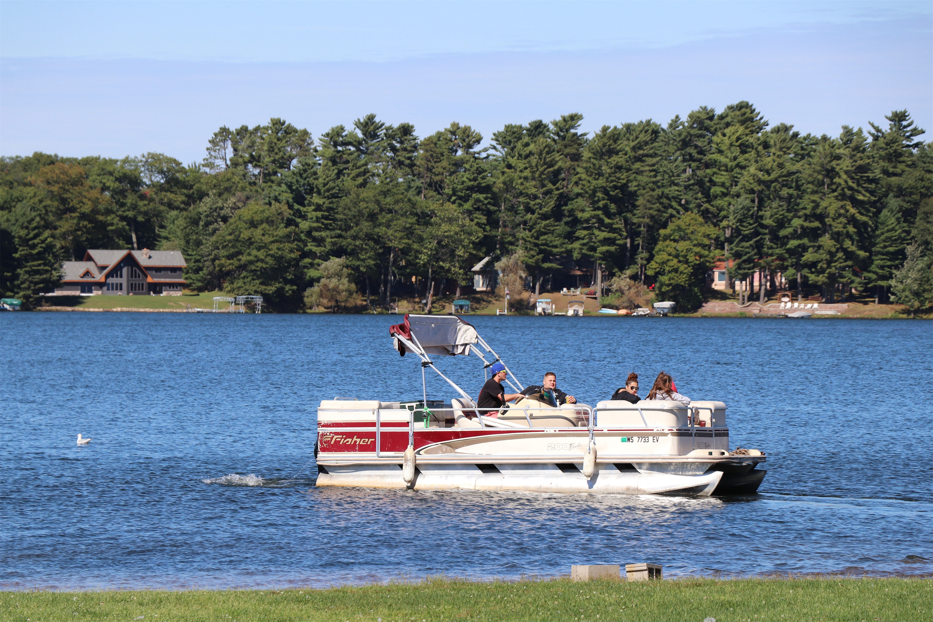 An afternoon pontoon boat ride on Lake Minocqua. Kim Johnson photo