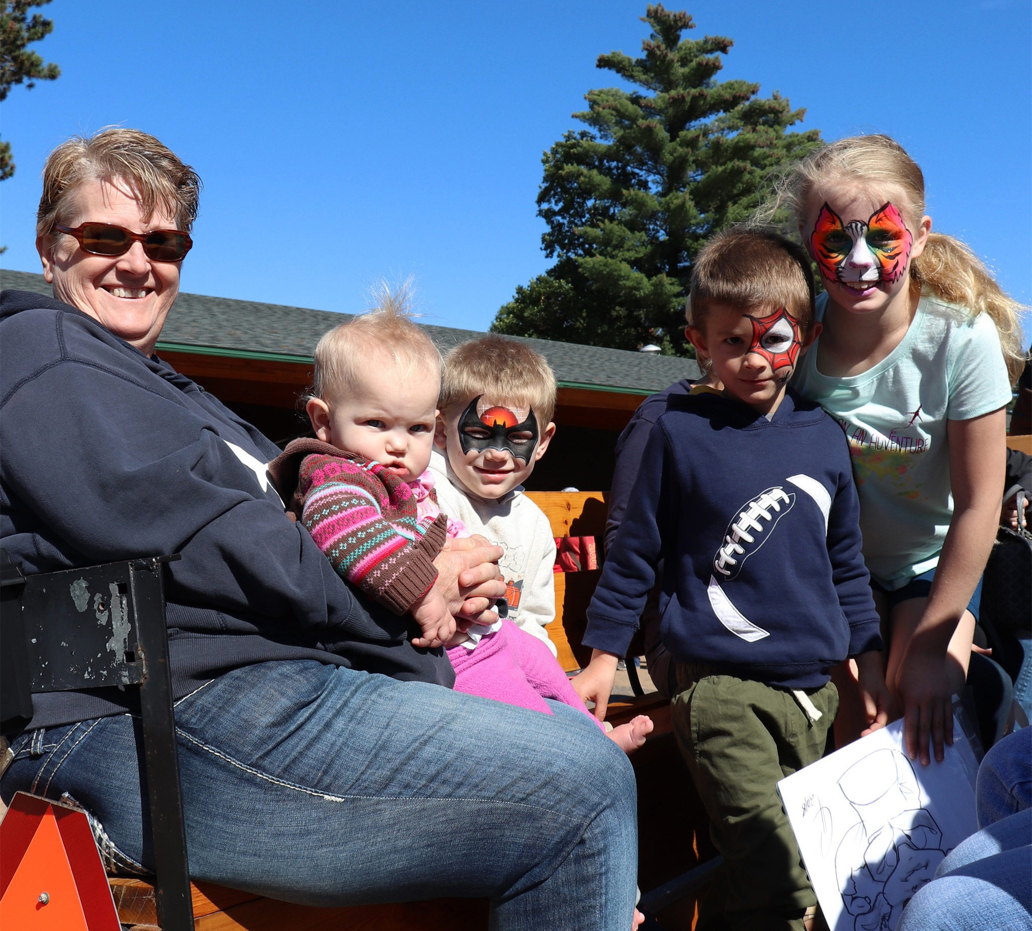 All smiles from these kids who enjoyed the horse drawn wagon ride at Colorama in St. Germain. Kim Johnson photo