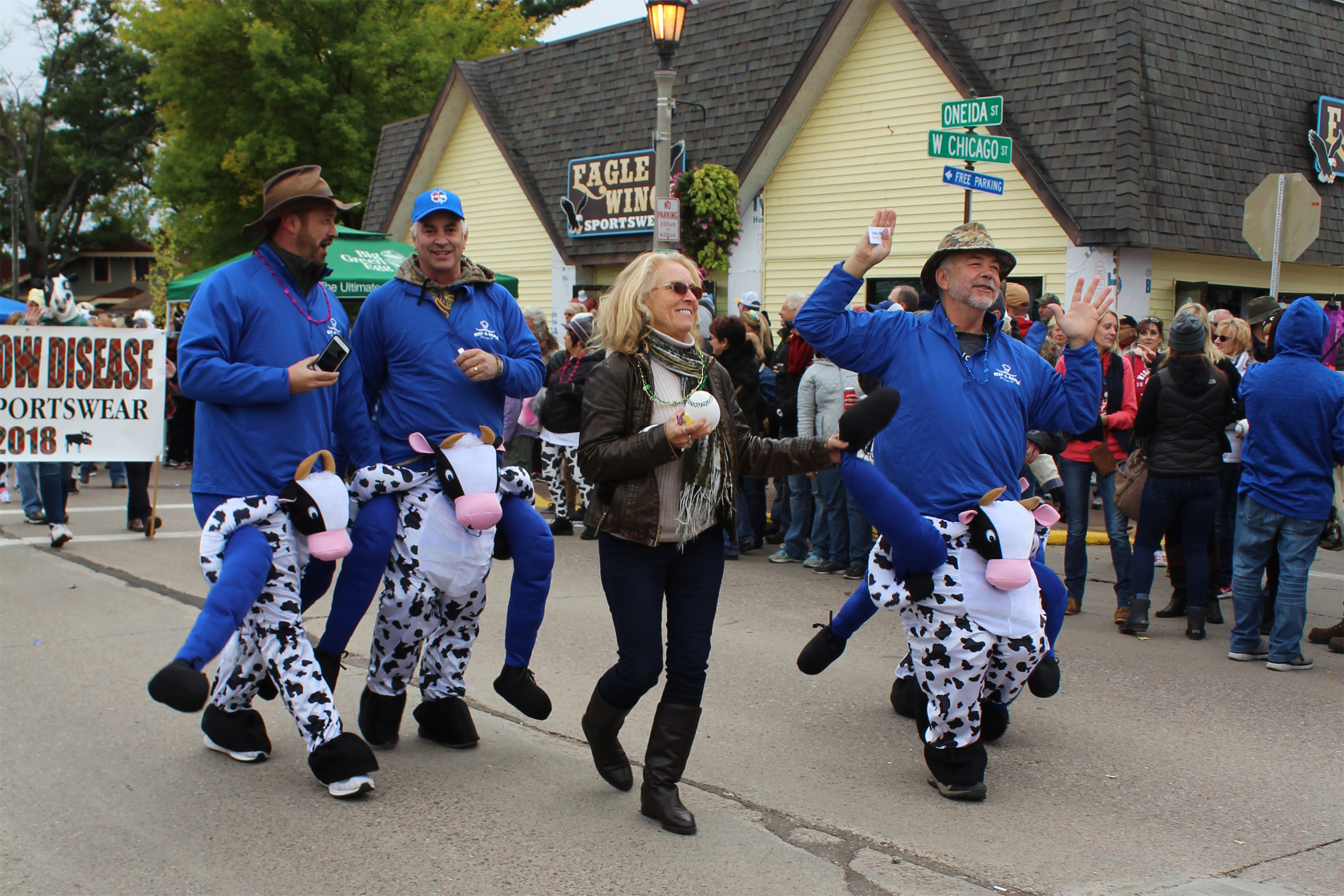 Dancing in the streets at the 54th annual Beef-A-Rama event in Minocqua. Kim Johnson photo