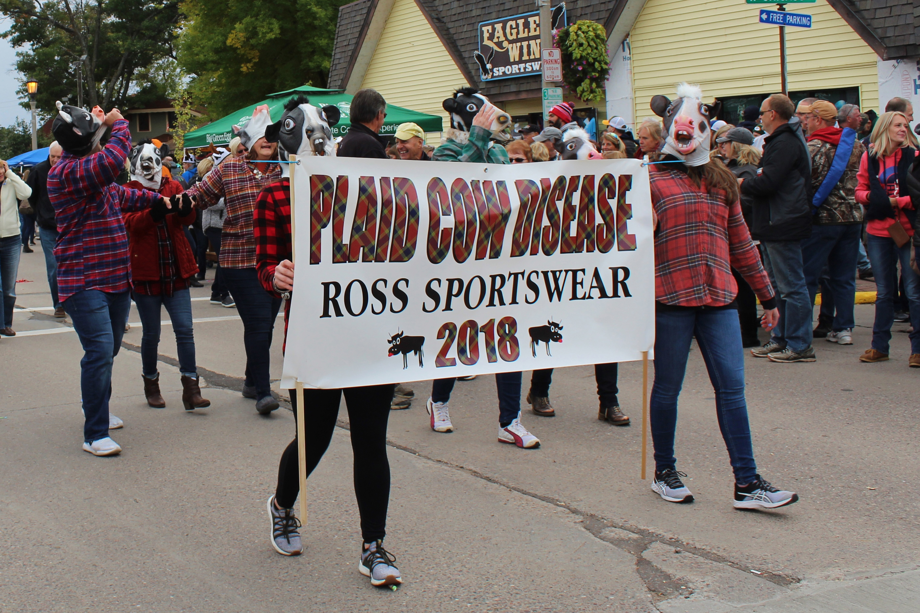 Ross Sportswear is well represented at the Beef-A-Rama parade in Minocqua. Kim Johnson photo