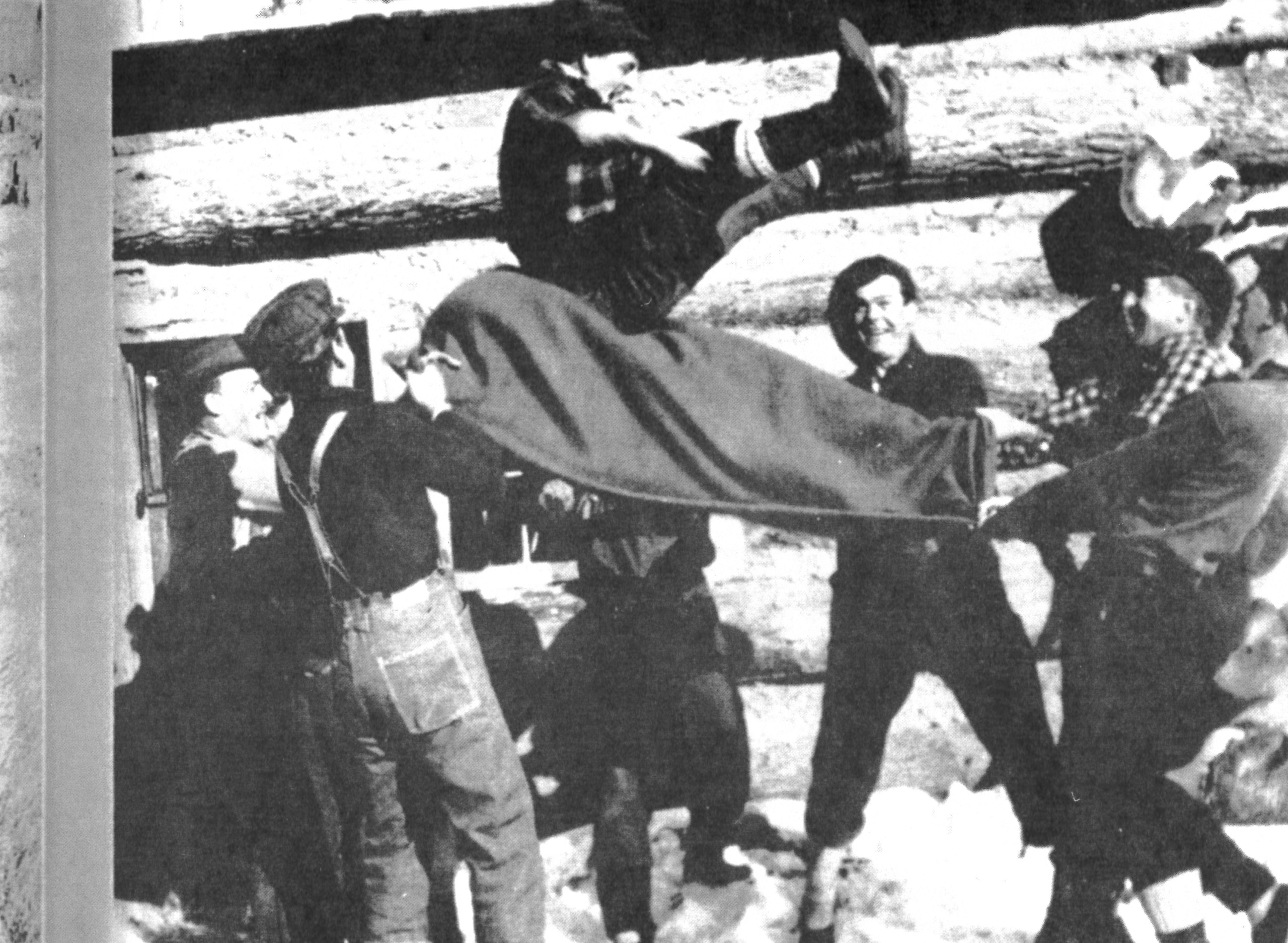 Lumberjacks led physically demanding lives, but they found the time and energy for fun and games. Courtesy of Boulder Junction Area Historical Society