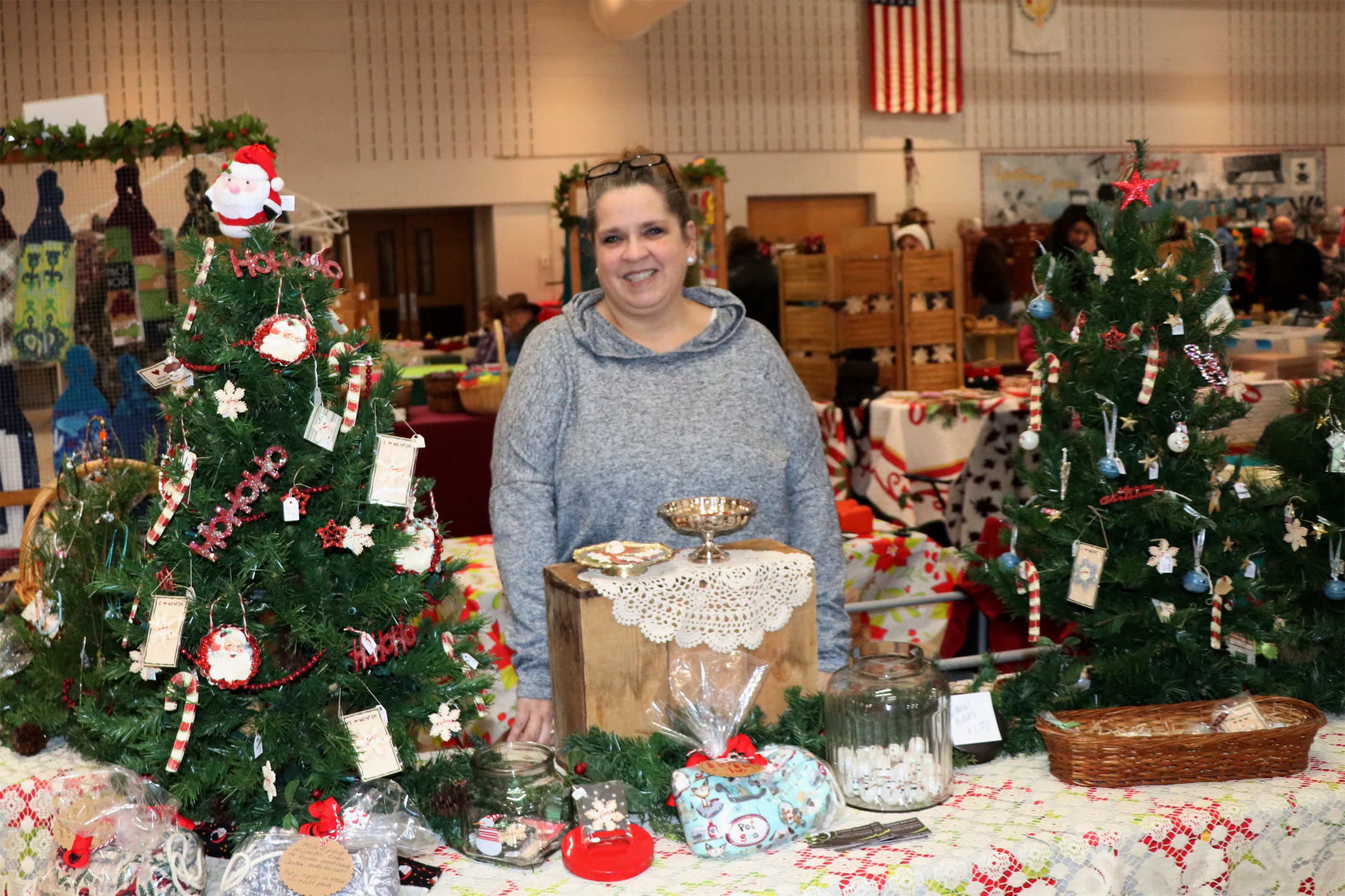 Joanne shares her homemade crafts at the Christmas Gift and Craft Show in Minocqua. Kim Johnson photo