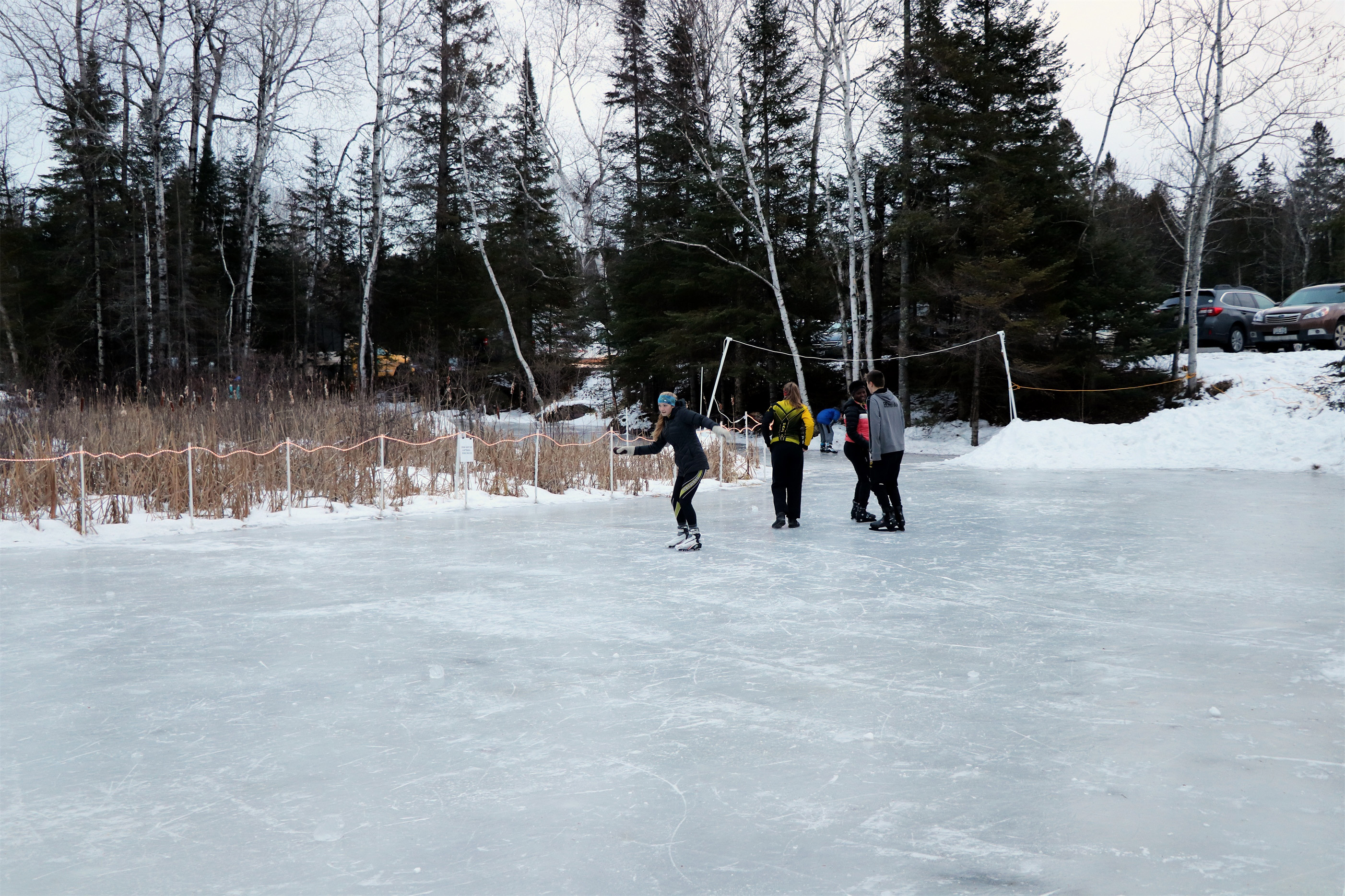 The skating pond at Minocqua Winter Park is a popular place for kids. Kim Johnson photo