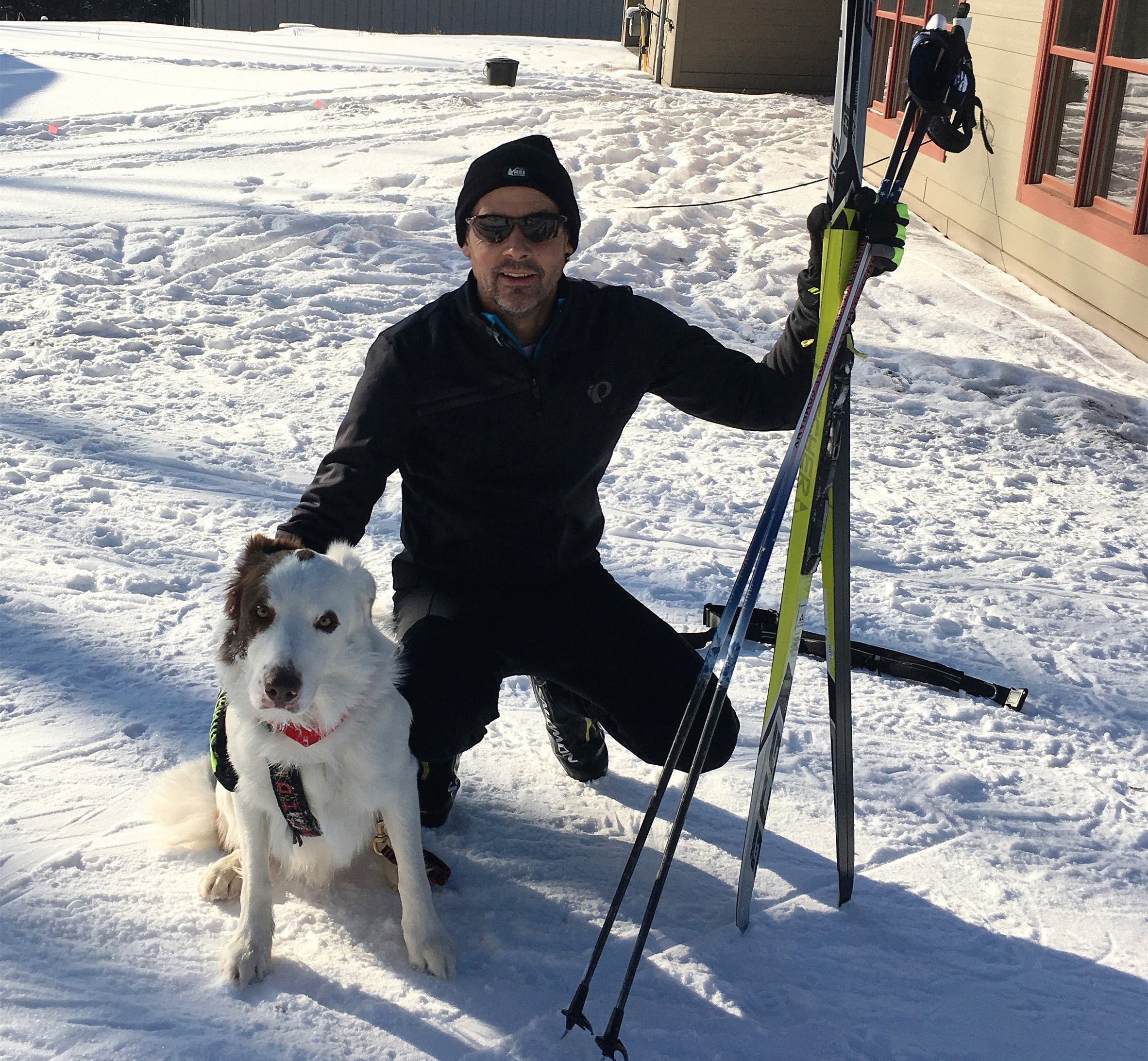 Robert enjoys skijoring with his dog at the WinMan Trails, Manitowish Waters. Kim Johnson photo