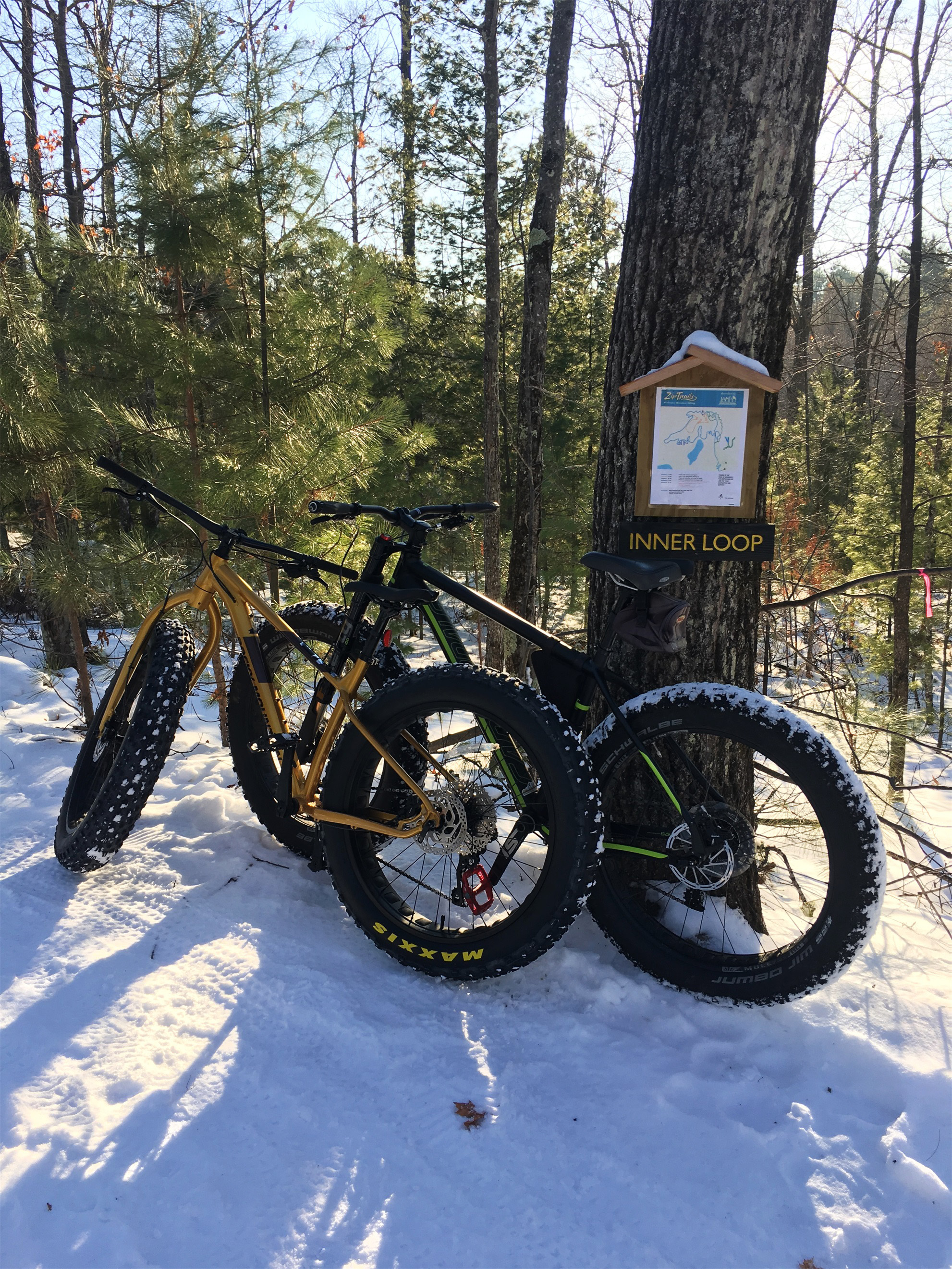Winter biking at Northwoods Zip Line Trails in Minocqua. Kim Johnson photo