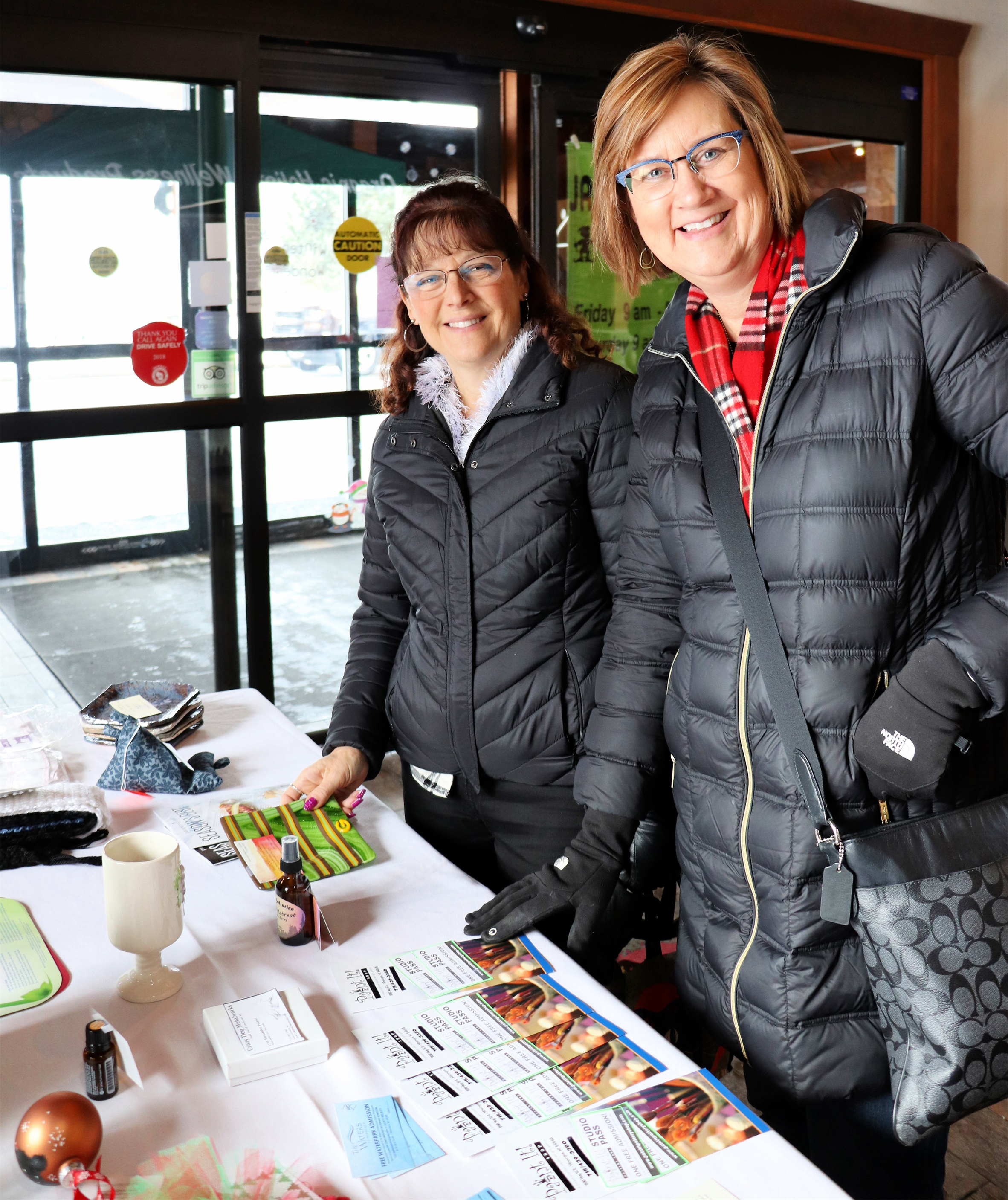 Connie and Sharon visit The Waters of Minocqua for the annual Holiday Market. Kim Johnson photo