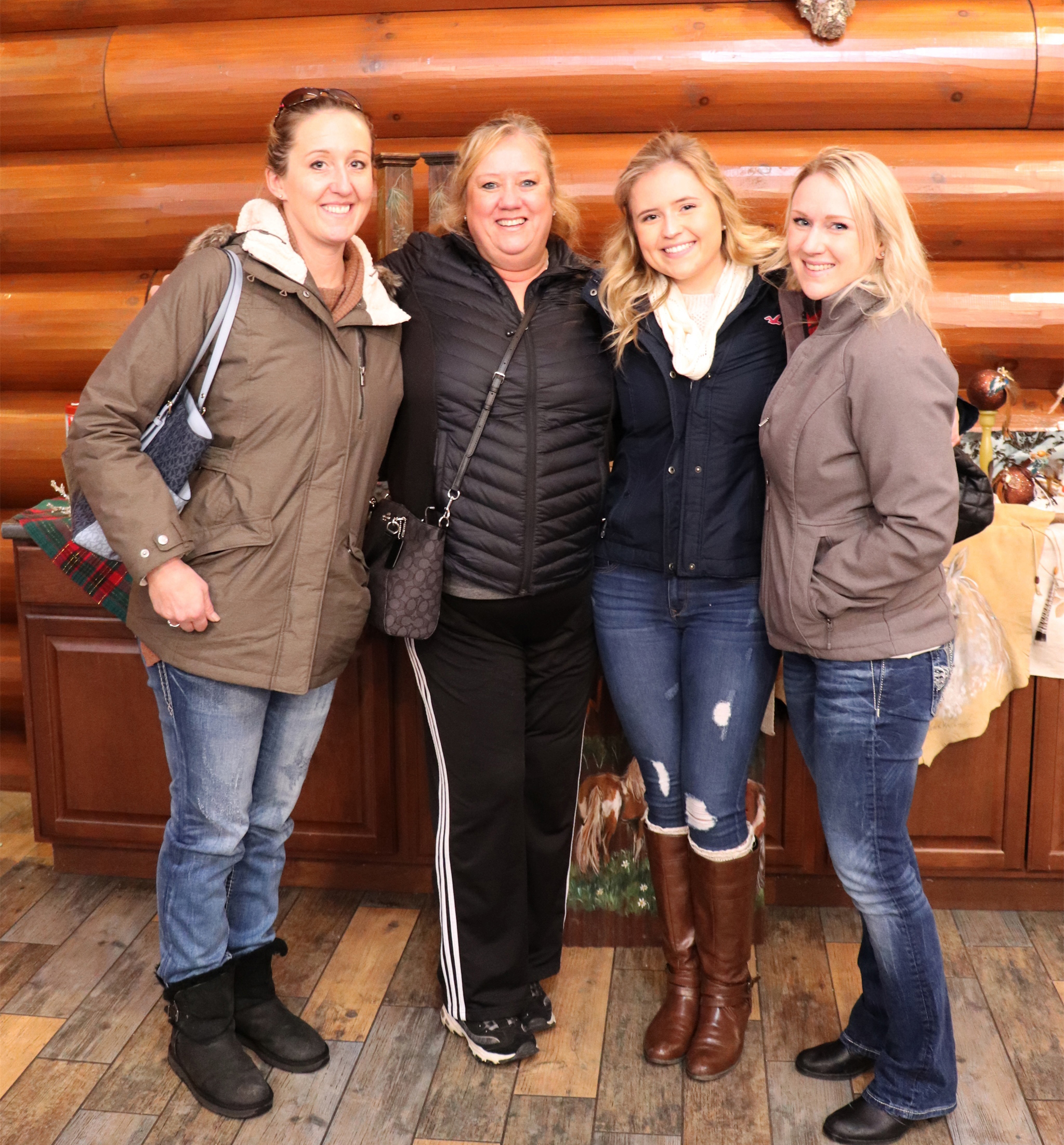 Amanda, Debbie, Aryssa and Sara from Rhinelander enjoy shopping at the Holiday Market in Minocqua. Kim Johnson photo