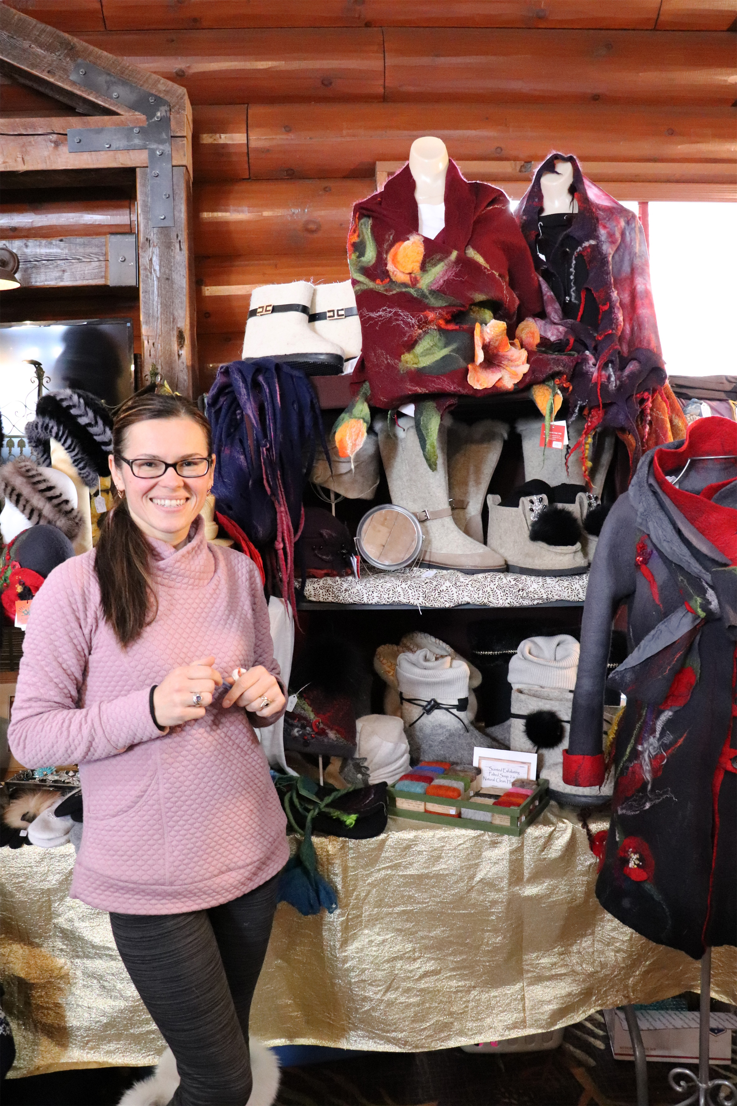 Irene shares her creations at the Holiday Market in Minocqua. Kim Johnson photo