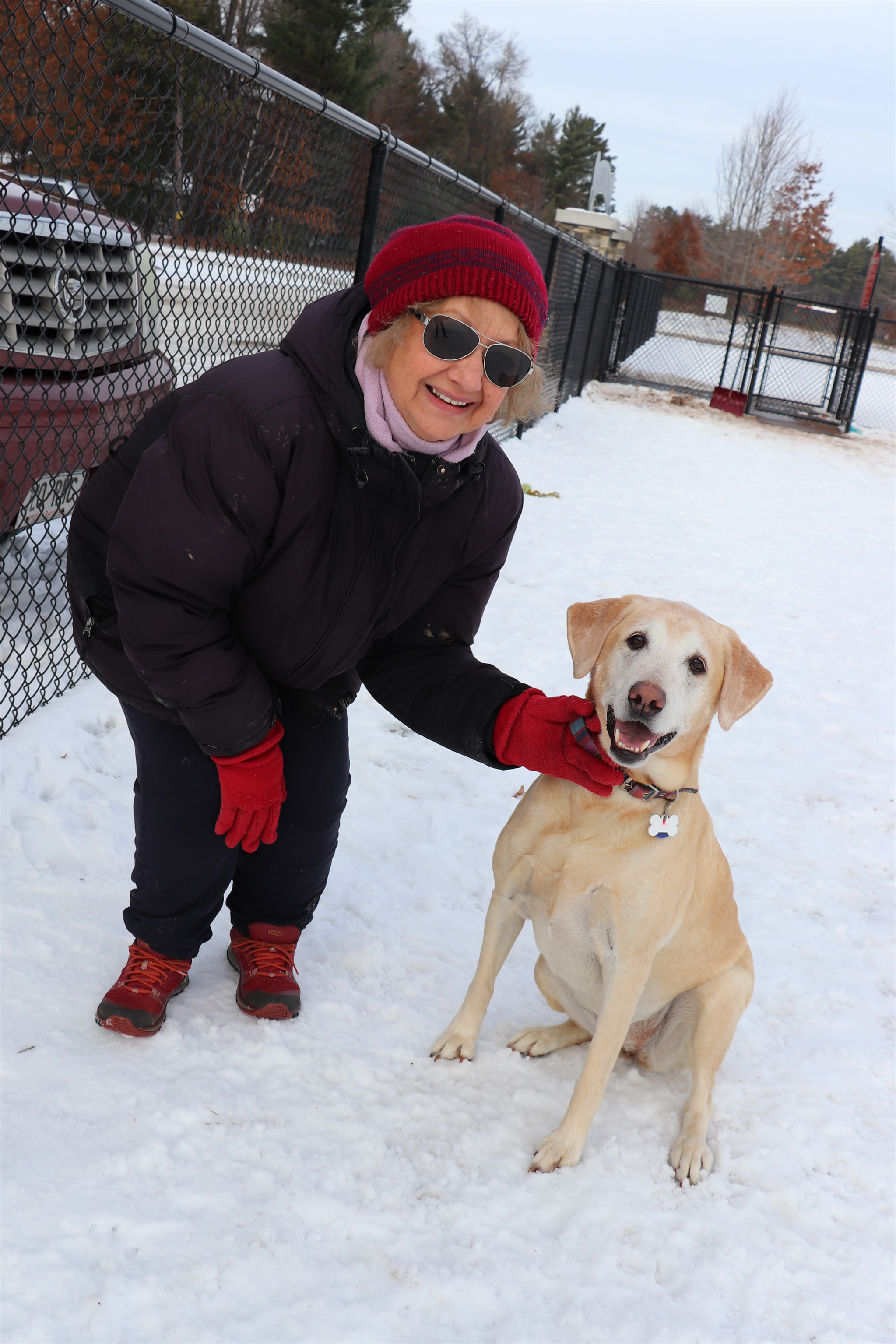 Linda and her dog Emma play at the Lakeland Area Dog Park in Minocqua. Kim Johnson photo
