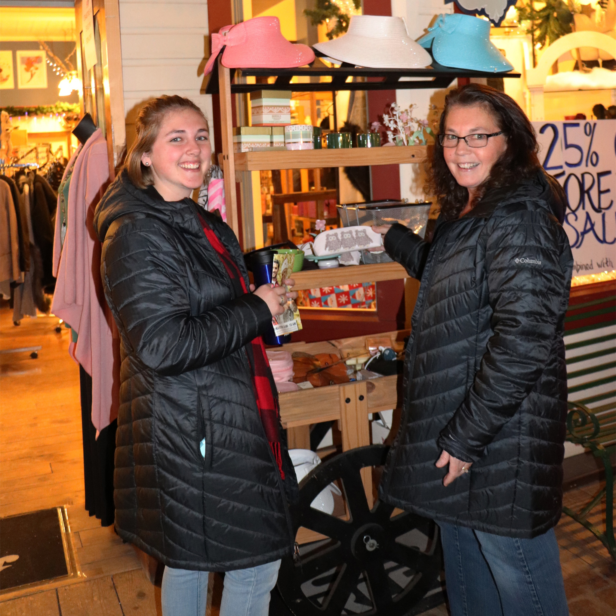 Mother and daughter spend time shopping at Gaslight Square in Minocqua. Kim Johnson photo