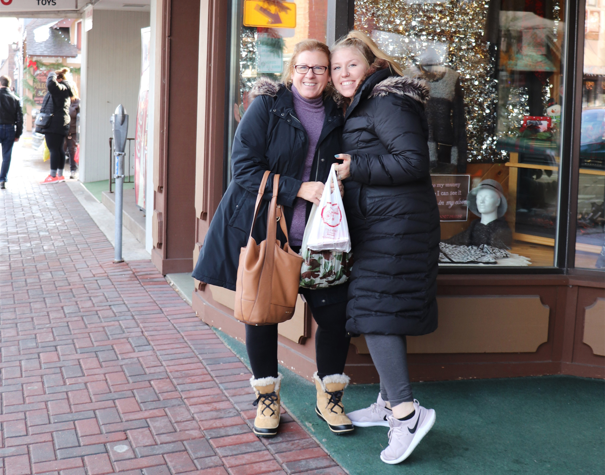Holiday shopping in downtown Minocqua. Kim Johnson photo