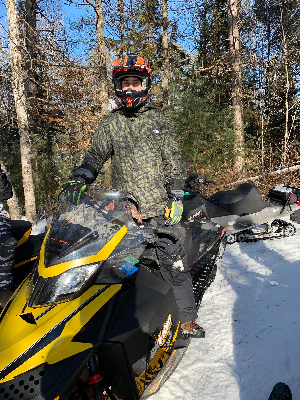 Colin enjoys the snowmobile trails in Hazelhurst. Kim Johnson photo