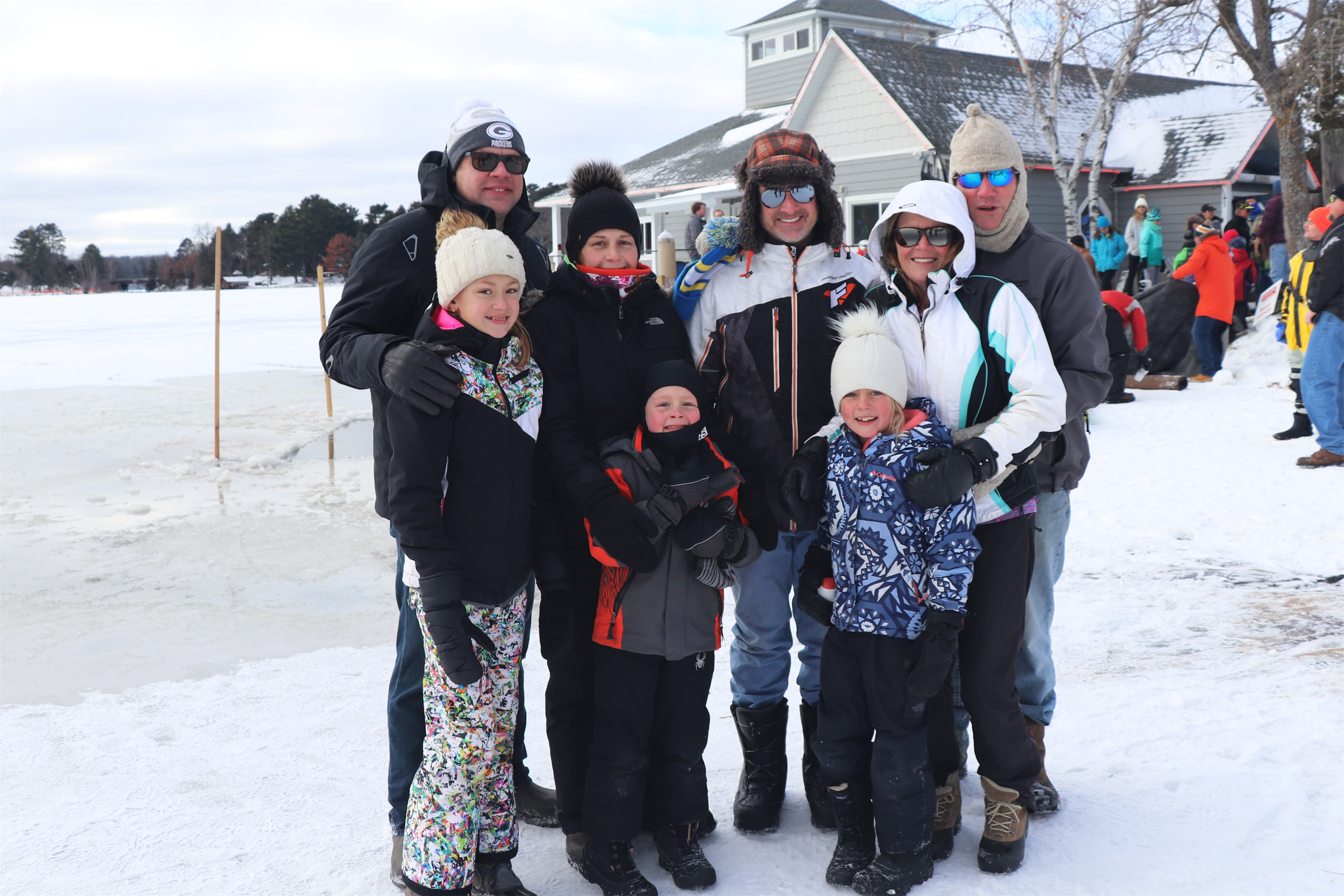 Family fun watching the recent Polar Plunge in Minocqua. Kim Johnson photo
